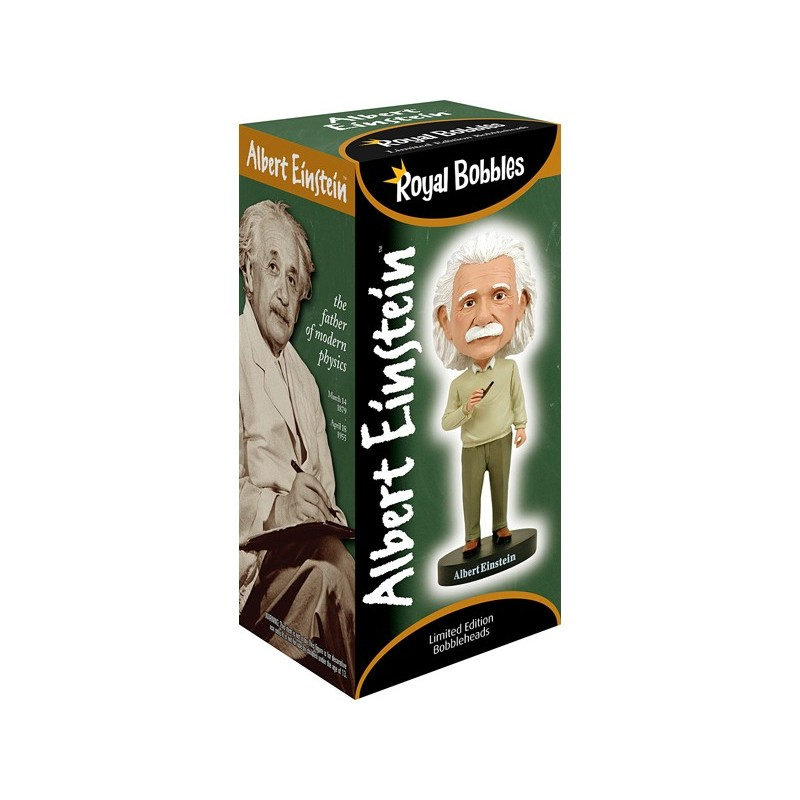 ALBERT EINSTEIN HEADKNOCKER BOBBLE HEAD ACTION FIGURE ROYAL BOBBLES