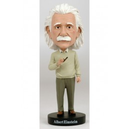 ALBERT EINSTEIN HEADKNOCKER BOBBLE HEAD ACTION FIGURE