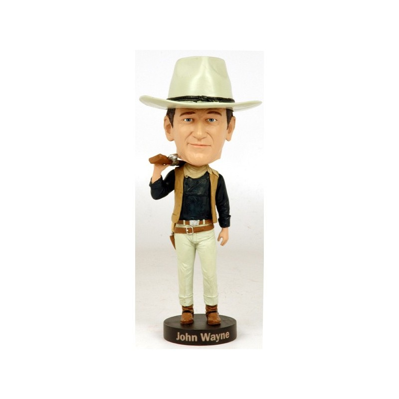 JOHN WAYNE COWBOY HEADKNOCKER BOBBLE HEAD ACTION FIGURE