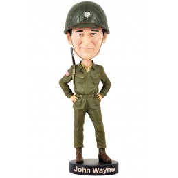 ROYAL BOBBLES JOHN WAYNE ARMY HEADKNOCKER BOBBLE HEAD ACTION FIGURE