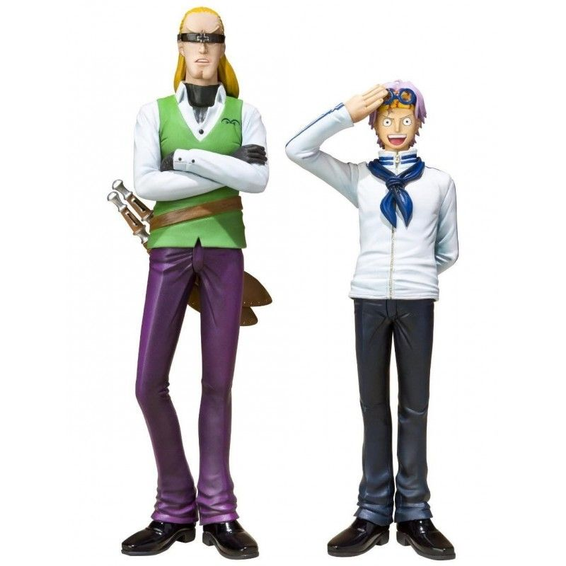 BANDAI BANDAI ONE PIECE COBBY AND HELMEPPO FIGUARTS ZERO FIGURE