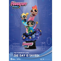 BEAST KINGDOM D-STAGE THE POWERPUFF GIRLS THE DAY IS SAVED STATUE FIGURE DIORAMA