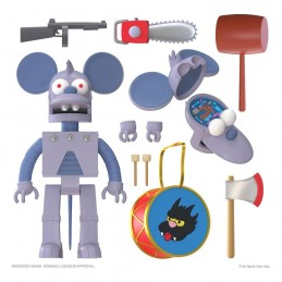 SUPER7 THE SIMPSONS ULTIMATES ROBOT ITCHY ACTION FIGURE