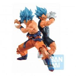 BANDAI DRAGON BALL SUPER ICHIBANSHO SUPER SAIYAN GOD GOKU AND VEGETA STATUE FIGURE