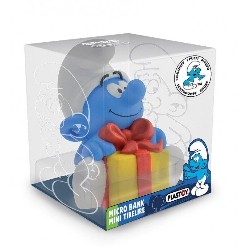 PLASTOY PUFFI SMURFS MOCKING SMURF MINI BANK SALVADANAIO PUFFO FIGURE