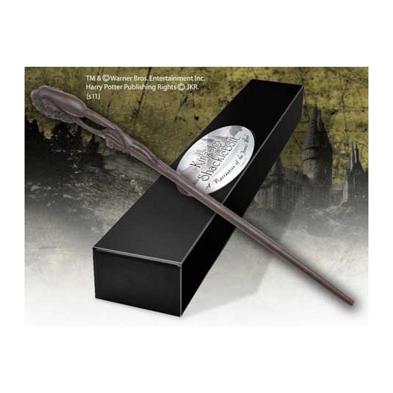 HARRY POTTER WAND KINSLEY SHAKLEBOLT REPLICA BACCHETTA NOBLE COLLECTIONS