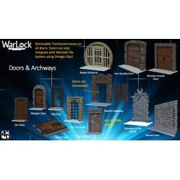 WIZKIDS WARLOCK TILES DOORS AND ARCHWAYS SET