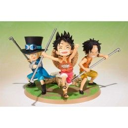 BANDAI ONE PIECE FIGUARTS ZERO - LUFFY ACE SABO FIGURE