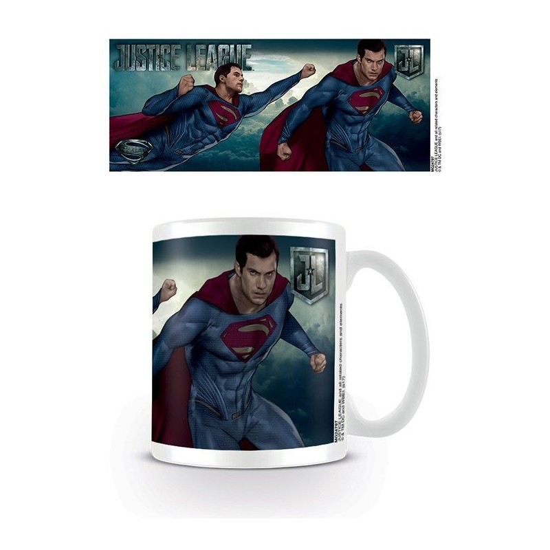 PYRAMID INTERNATIONAL DC MOVIE JUSTICE LEAGUE SUPERMAN CERAMIC MUG