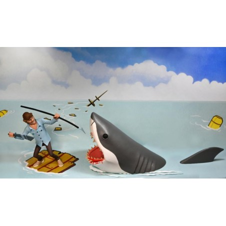 JAWS LO SQUALO JAWS AND QUINT 2-PACK TOONY TERRORS ACTION FIGURES