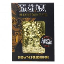 FANATTIK YU-GI-OH! LIMITED EDITION EXODIA THE FORBIDDEN ONE GOLD METAL CARD