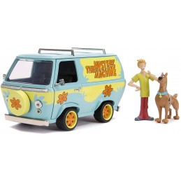 JADA TOYS MYSTERY MACHINE WITH SHAGGY AND SCOOBY-DOO 1/24 MODEL AND FIGURES
