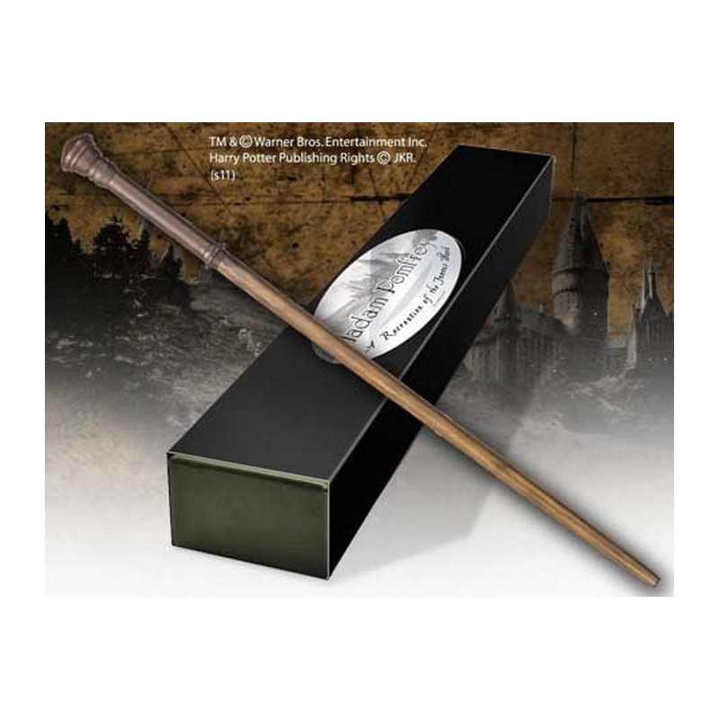 HARRY POTTER WAND MADAME POMFREY REPLICA BACCHETTA NOBLE COLLECTIONS
