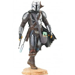 STAR WARS THE MANDALORIAN WITH THE CHILD PREMIER COLLECTION STATUA FIGURE GENTLE GIANT