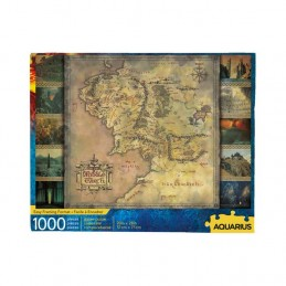AQUARIUS ENT LORD OF THE RINGS MIDDLE EARTH MAP 1000 PIECES PEZZI JIGSAW PUZZLE 50x70cm