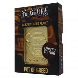 YU-GI-OH! LIMITED EDITION POT OF GREED GOLD CARTA IN METALLO FANATTIK