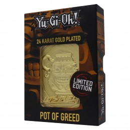 FANATTIK YU-GI-OH! LIMITED EDITION POT OF GREED GOLD METAL CARD