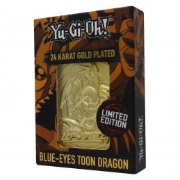 YU-GI-OH! LIMITED EDITION BLUE EYES TOON DRAGON GOLD CARTA IN METALLO FANATTIK