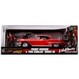 NIGHTMARE FREDDY KRUEGER AND 1958 CADILLAC DIE CAST 1/24 MODEL CAR JADA TOYS
