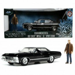 SUPERNATURAL DEAN WINCHESTER AND 1967 CHEVY IMPALA DIE CAST 1/24 MODEL CAR JADA TOYS