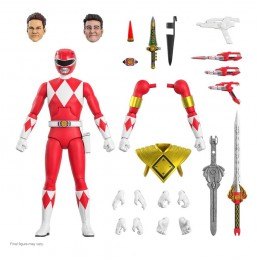 MIGHTY MORPHIN POWER RANGERS ULTIMATES RED RANGER ACTION FIGURE SUPER7