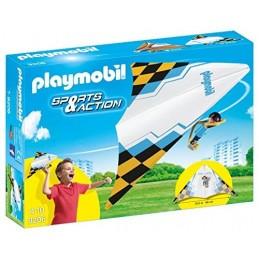 PLAYMOBIL ACTION Deltaplano Arancio Con Pilota