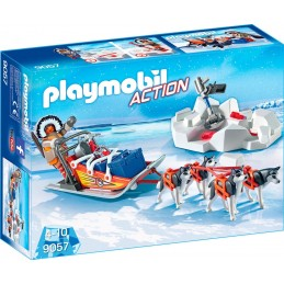 PLAYMOBIL ACTION Slitta Con Husky