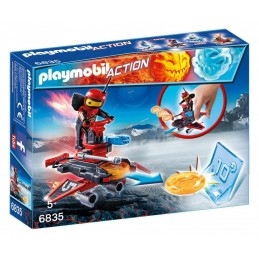 PLAYMOBIL ACTION GAME Fire-Robot Sp.Jet Lanciadischi