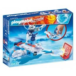 PLAYMOBIL ACTION GAME Ice-Robot Sp.Jet Lanciadischi