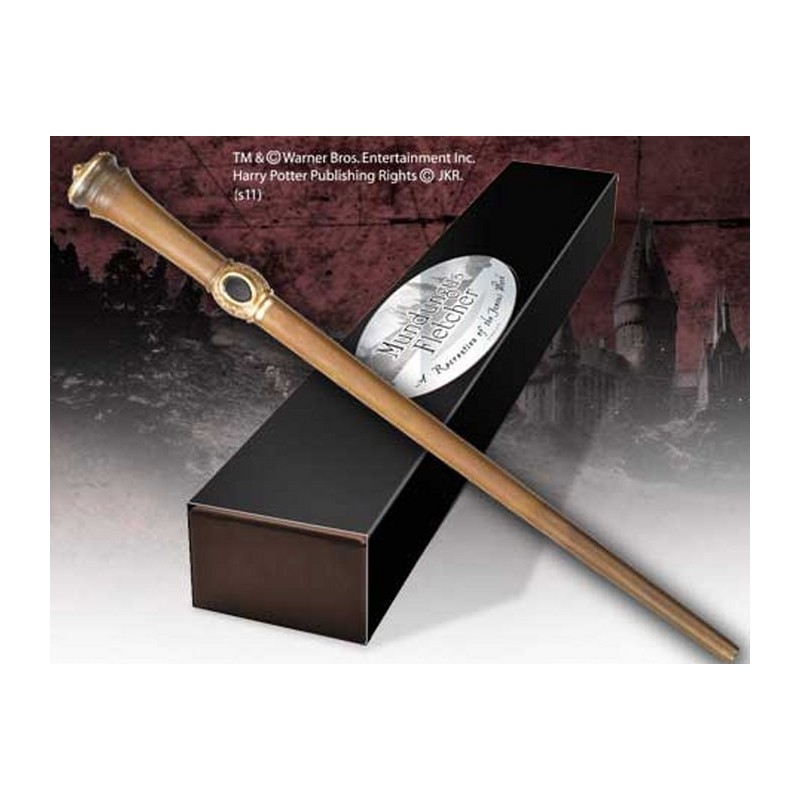 HARRY POTTER WAND MUNDUNGUS FLETCHER REPLICA BACCHETTA NOBLE COLLECTIONS
