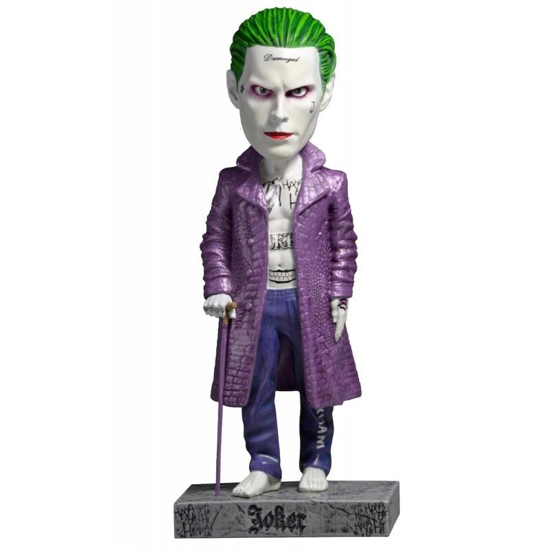 SUICIDE QUAD - THE JOKER BOBBLE HEAD KNOCKER FIGURE NECA
