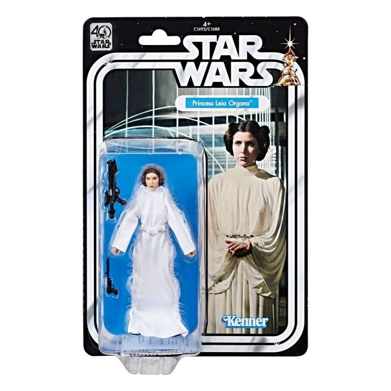 HASBRO STAR WARS THE BLACK SERIES 40TH ANNIVERSARY PRINCESS LEIA ACTION FIGURE