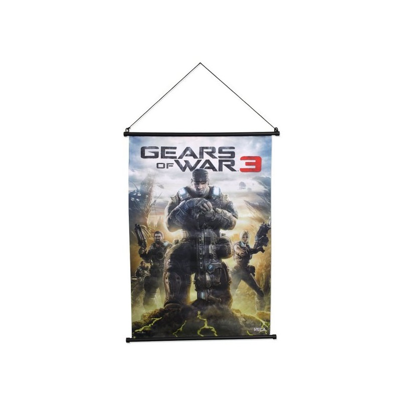 GEARS OF WAR 3 WALL SCROLL BOX ART MARCUS FENIX 55 X 80 CM