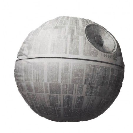 STAR WARS DEATH STAR SHAPED PELUCHE PLUSH CUSHION CUSCINO 45x45x6cm