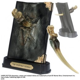 HARRY POTTER - DIARIO TOM RIDDLE DIARY AND BASILISK FANG NOBLE COLLECTIONS