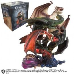 HARRY POTTER DRAGONS OF THE FIRST TASK STATUE 28CM FIGURE NOBLE COLLECTIONS