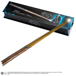 NOBLE COLLECTIONS HARRY POTTER FANTASTIC BEASTS SCAMANDER WAND ILLUMINATING REPLICA BACCHETTA