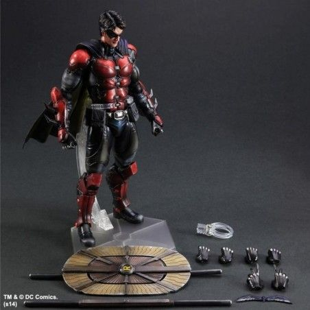 BATMAN ARKHAM ORIGINS ROBIN PLAY ARTS KAI PAK ACTION FIGURE