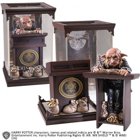 HARRY POTTER MAGICAL CREATURES - GRINGOTTS GOBLIN STATUA FIGURE