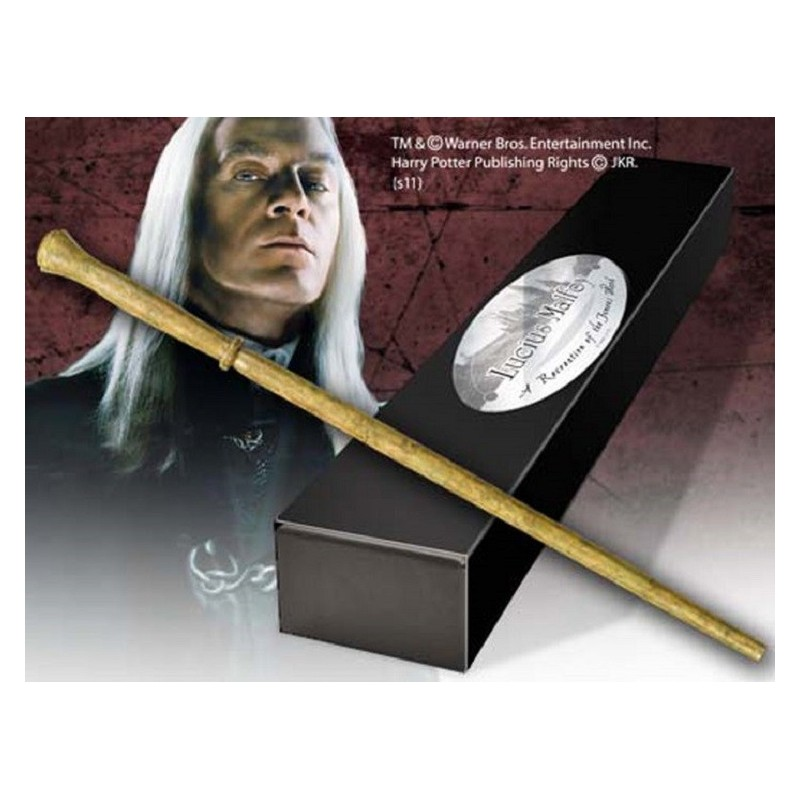 HARRY POTTER WAND LUCIUS MALFOY REPLICA BACCHETTA NOBLE COLLECTIONS