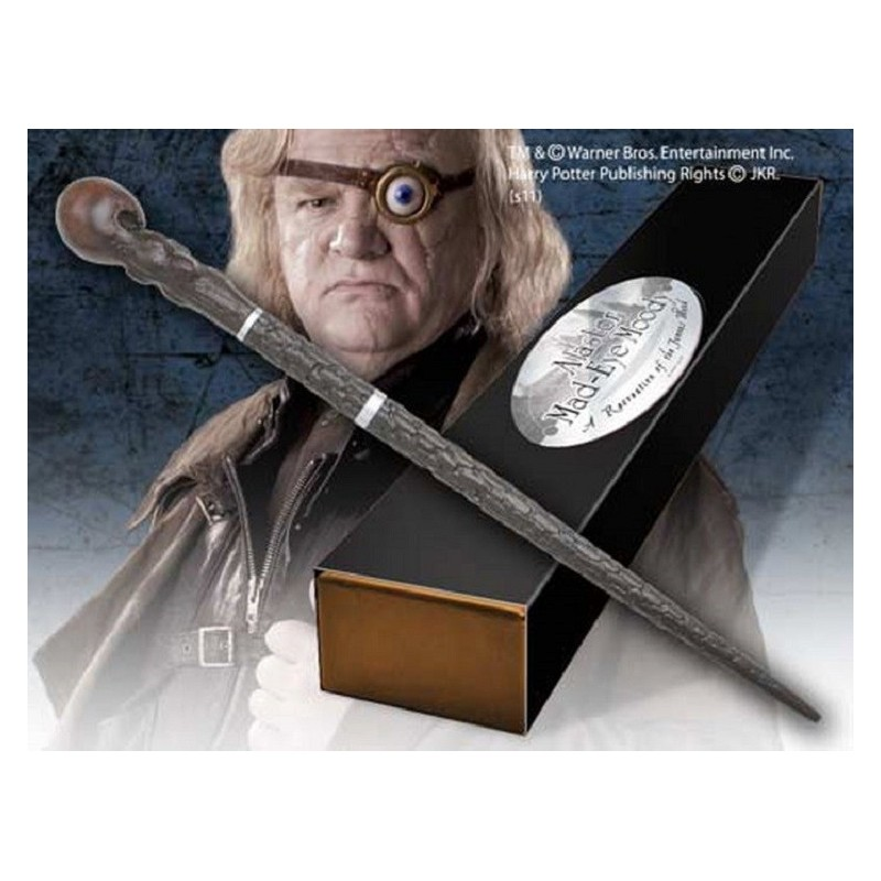 HARRY POTTER WAND MAD-EYE MOODY REPLICA BACCHETTA NOBLE COLLECTIONS