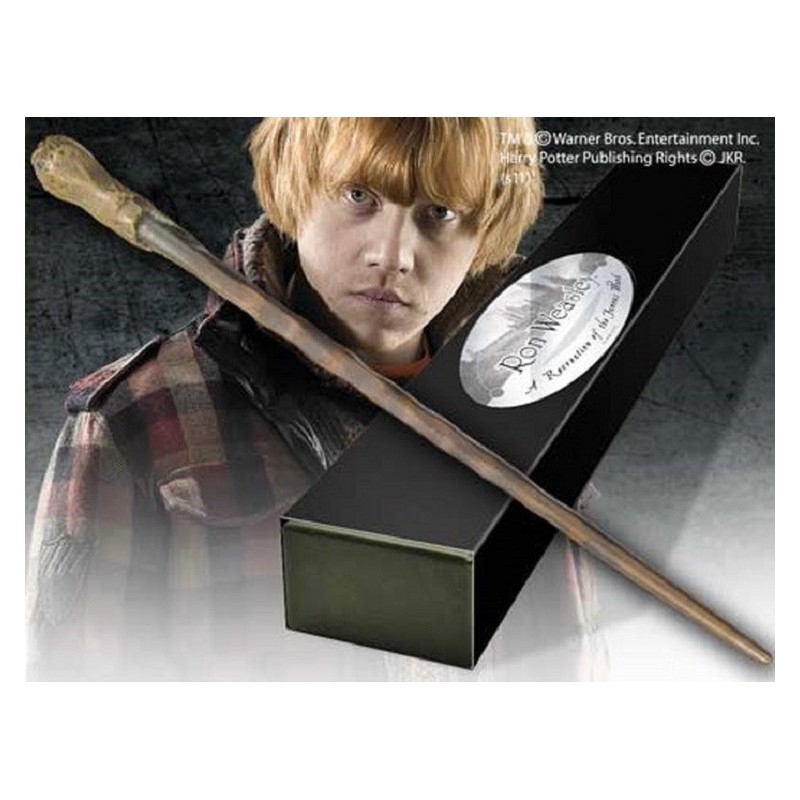 HARRY POTTER WAND RON WEASLEY REPLICA BACCHETTA NOBLE COLLECTIONS