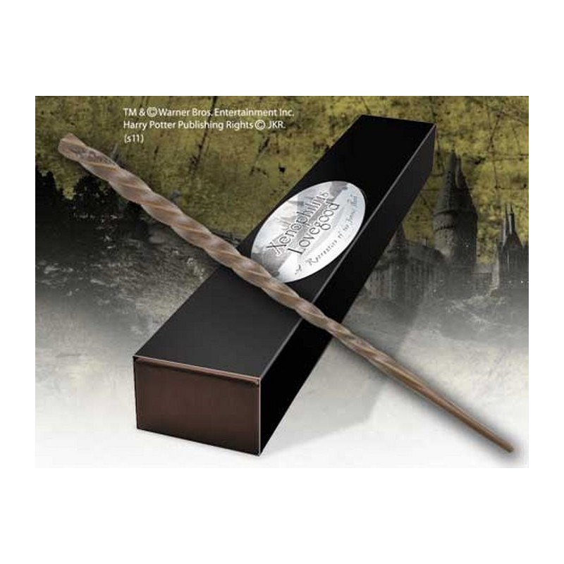 HARRY POTTER WAND XENOPHILIUS LOVEGOOD REPLICA BACCHETTA NOBLE COLLECTIONS