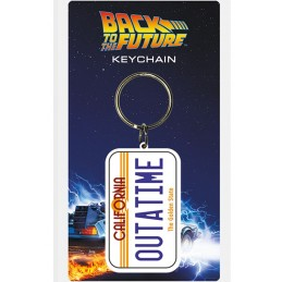 BACK TO THE FUTURE - DELOREAN LICENSE PLATE TARGA KEYCHAIN PORTACHIAVI KEYRING