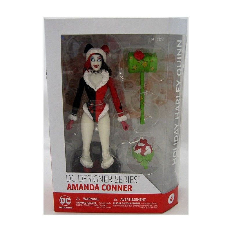 DC DESIGNERS SERIES CONNER HOLIDAY HARLEY QUINN ACTION FIGURE DC COLLECTIBLES