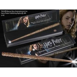 NOBLE COLLECTIONS HARRY POTTER WAND HERMIONE ILLUMINATING REPLICA BACCHETTA