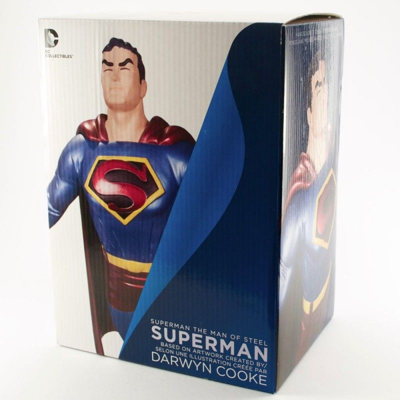DC COMICS SUPERMAN THE MAN OF STEEL BY DARWIN COOKE STATUE DC COLLECTIBLES