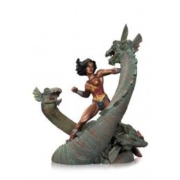 DC COMICS WONDER WOMAN VS HYDRA MINI PATINA STATUE DC COLLECTIBLES