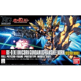 HIGH GRADE HGUC GUNDAM UNIC BANSHEE NORN DESTROY 1/144 MODEL KIT ACTION FIGURE