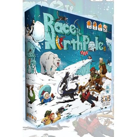 RACE TO THE NORTH POLE BOARDGAME GIOCO DA TAVOLO